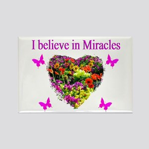 BELIEVE IN MIRACLES Rectangle Magnet