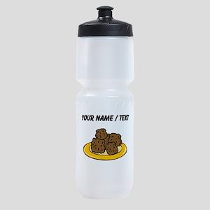 Custom Plate Of Meatballs Sports Bottle
