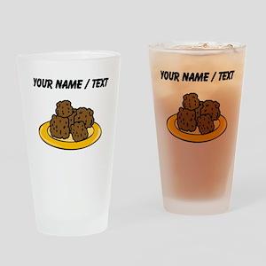 Custom Plate Of Meatballs Drinking Glass