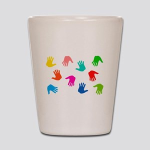 Hand Prints Shot Glass