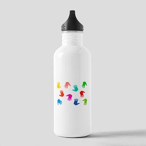 Hand Prints Water Bottle