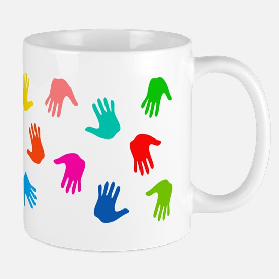Hand Prints Mugs