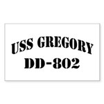 USS GREGORY Sticker (Rectangle)
