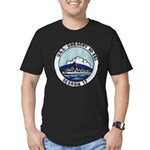 USS GREGORY Men's Fitted T-Shirt (dark)