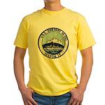 USS GREGORY Yellow T-Shirt