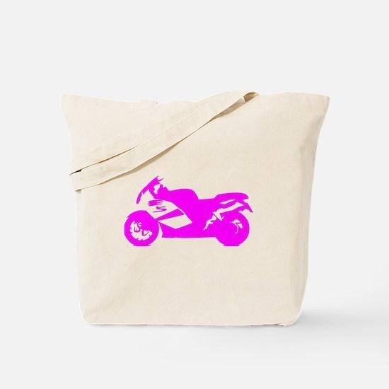 Pink Crotch Rocket Motorcycle Tote Bag