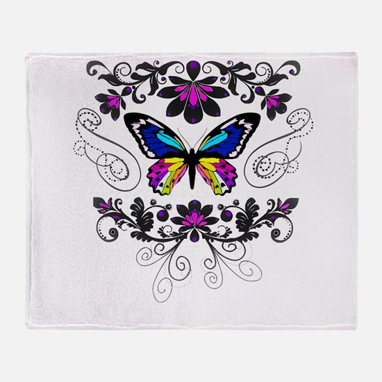 Butterfly embellishment Throw Blanket