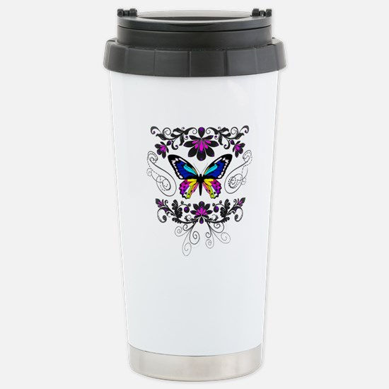 Butterfly embellishment Travel Mug