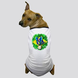 Brazil Macaw with Soccer Ball Dog T-Shirt