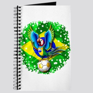 Brazil Macaw with Soccer Ball Journal