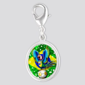 Brazil Macaw with Soccer Ball Charms