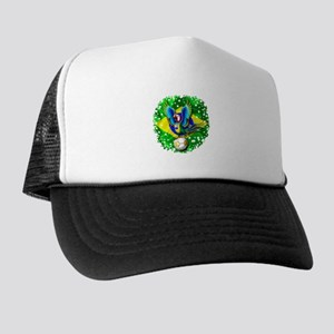 Brazil Macaw with Soccer Ball Trucker Hat