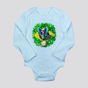 Brazil Macaw with Soccer Ball Body Suit