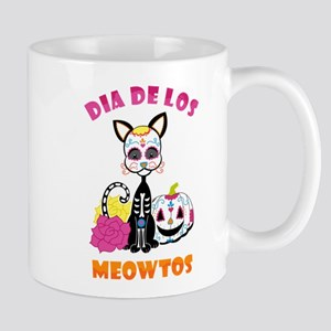 Dia De Los Meowtos 11 oz Ceramic Mug