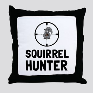 Squirrel Hunter Throw Pillow