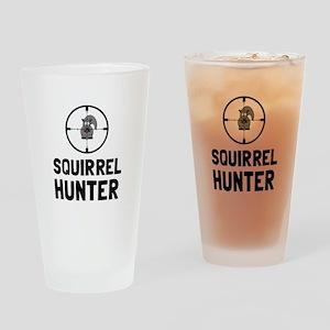 Squirrel Hunter Drinking Glass