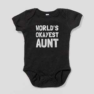 Worlds Okayest Aunt Baby Bodysuit