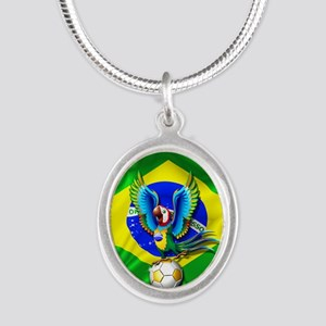 Brazil Macaw with Soccer Ball Necklaces