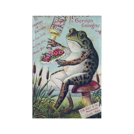 vintage cologne frog rectangle magnet by listing store. Black Bedroom Furniture Sets. Home Design Ideas