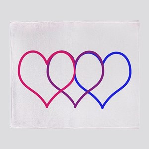 Bisexual Hearts Throw Blanket