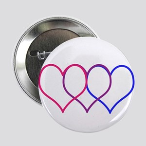 "Bisexual Hearts 2.25"" Button"