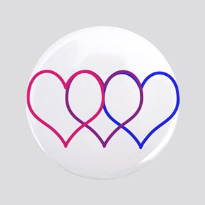 """Bisexual Hearts 3.5"""" Button"""