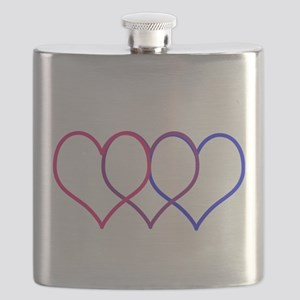 Bisexual Hearts Flask