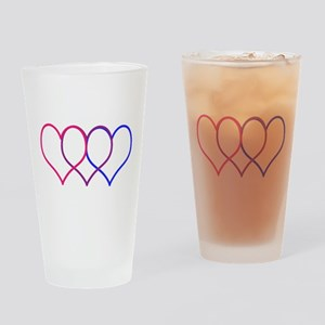 Bisexual Hearts Drinking Glass