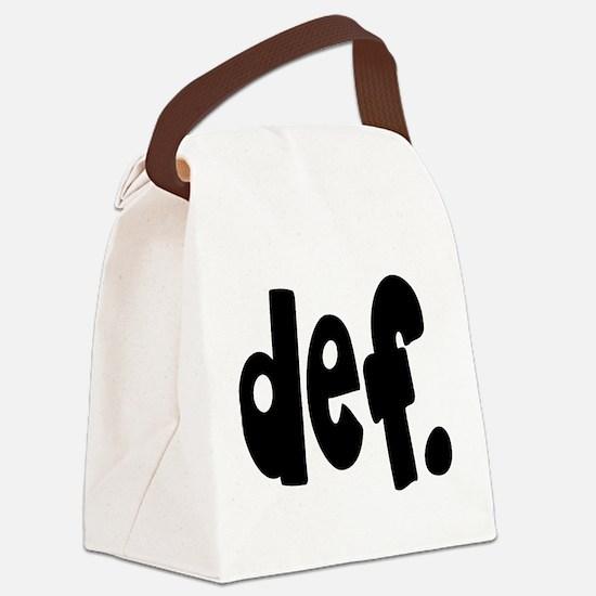 def. Canvas Lunch Bag