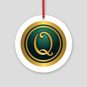 Irish Luck Q Ornament (Round)