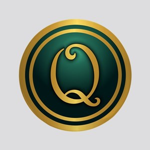 "Irish Luck Q 3.5"" Button"