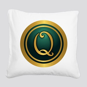 Irish Luck Q Square Canvas Pillow