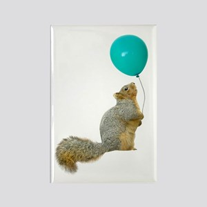 Fat Squirrel Rectangle Magnet