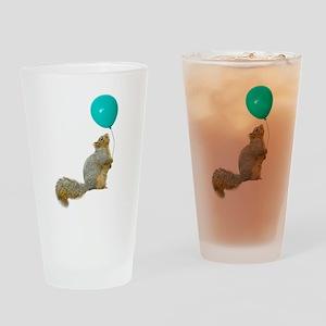 Fat Squirrel Drinking Glass