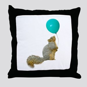Fat Squirrel Throw Pillow