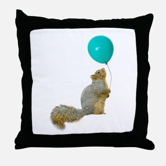 Fat Squirrel Throw Pillow