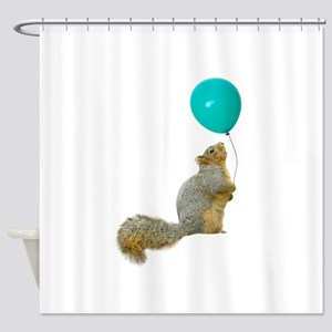 Fat Squirrel Shower Curtain