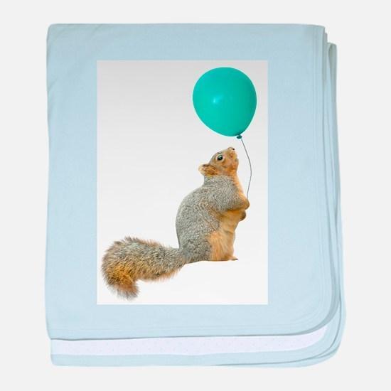 Fat Squirrel baby blanket