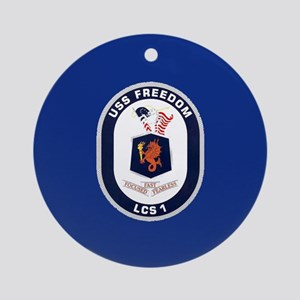 USS Freedom LCS-1 Ornament (Round)