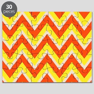 Candy Corn Chevron Puzzle