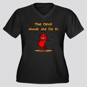 The devil made me do it! Women's Plus Size V-Neck