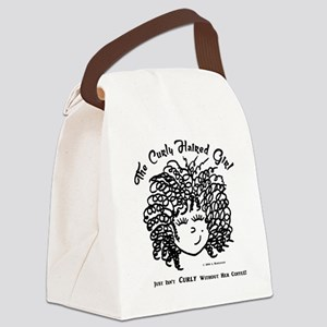 Just isn't curly without coffee Canvas Lunch Bag