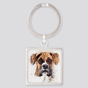 Boxer Painting Keychains