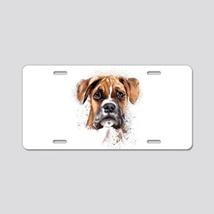 Boxer Painting Aluminum License Plate