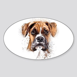 Boxer Painting Sticker