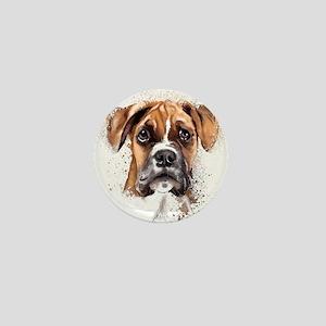 Boxer Painting Mini Button