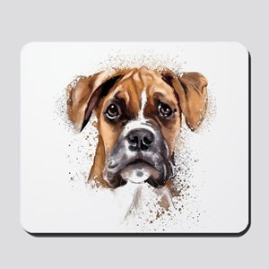 Boxer Painting Mousepad