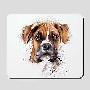 Boxer Painting Mousepad
