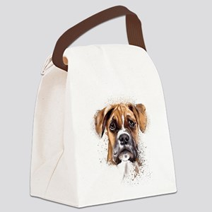 Boxer Painting Canvas Lunch Bag