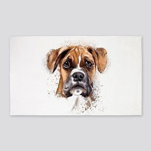 Boxer Painting 3'x5' Area Rug